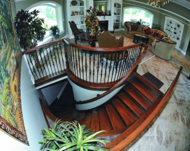 Staircase by Toby Wilkins. Courtesy of Ron Campbell, Johnson City Press